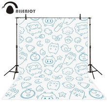 Photography background Blue cartoon images baby newborn photo digital Allenjoy backdrops