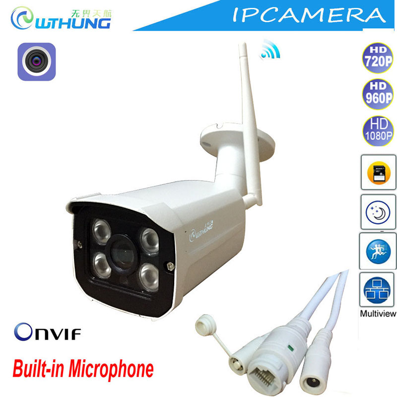WTHUNG IP Camera Wireless Wired 720P 960P 1080P Sony CMOS Onvif SD Card Slot Max32G Motion Detect for Home Surveillance Monitor<br>