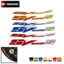 For SUZUKI SV 650S SV650S SV650 S Motorcycle Front & Rear CUSTOM INNER RIM DECALS WHEEL Reflective STICKERS STRIPES(China)