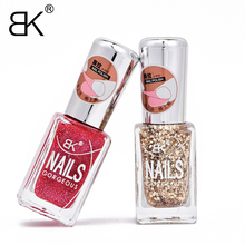 BK Brand Water Base Peel Off Nail Polish Smell Faint Fragrance Nail Lacquer Pure And Glitter Sweet Colors Enamel Paint(China)