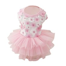 Wedding Dog Dress Puppy Cat Summer Clothes for Small Dog Funny Pet Costume Tulle Dresses Floral Princess Vestidos