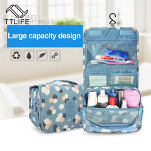 TTLIFE Best sold Portable New Wome Waterproof Travel Cosmetic Bag Hanging Mesh Toiletry Storage Purse Organizer Makeup Pouch