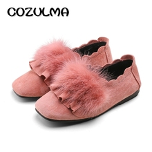 Buy COZULMA Autumn Winter Kids Cotton Shoes Girls Fashion Sneakers Children Soft Sole Casual Shoes Girls Warm Flat Loafer Shoes for $9.78 in AliExpress store