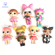 Surprise doll Unpacking dolls Dress up toys surprise eggs Vinyl 3-6 years old 9.5 * 9.5 * 9.5cm 7 models funny Christmas gift