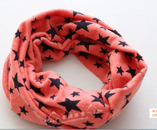 2017 New arrive Children outdoor scarves warm magic scarves grey star/ blue star(China)