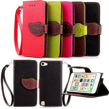 For iPod Touch 6 Luxury Leather Phone Case Flip Wallet Soft TPU Stand Fundas Back Cover Case For Apple iPod Touch6 6th 6G Case