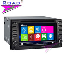 "Wanusual Wince 6.0 2Din 6"" Car Head Unit DVD Auto Player Audio For KIA New Carens/Sorento Stereo GPS Navigation Bluetooth MP3 SD(China)"