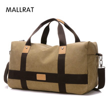 MALLRAT Large Capacity Travel Bag Men Hand Luggage Travel Duffle Bags Canvas Weekend Bags Multifunctional Travel Bags(China)