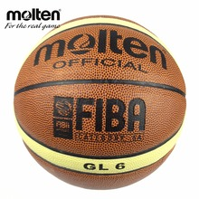 New Brand Hight Quality Genuine Molten GL6 Basketball Ball PU Material Official Size 6 Basketball Free With Net Bag+ Needle(China)