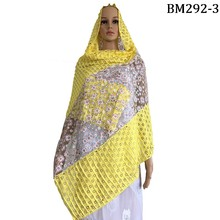 Beautiful african women muslim scarf,flower lace scarf with stones , new arrivals cotton lace scarf on sales FREE SHIPING