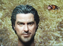 "1/6 scale figure doll head shape for 12"" action figure doll accessories Sherlock Holmes Robert Downey Jr. Head carved(China)"