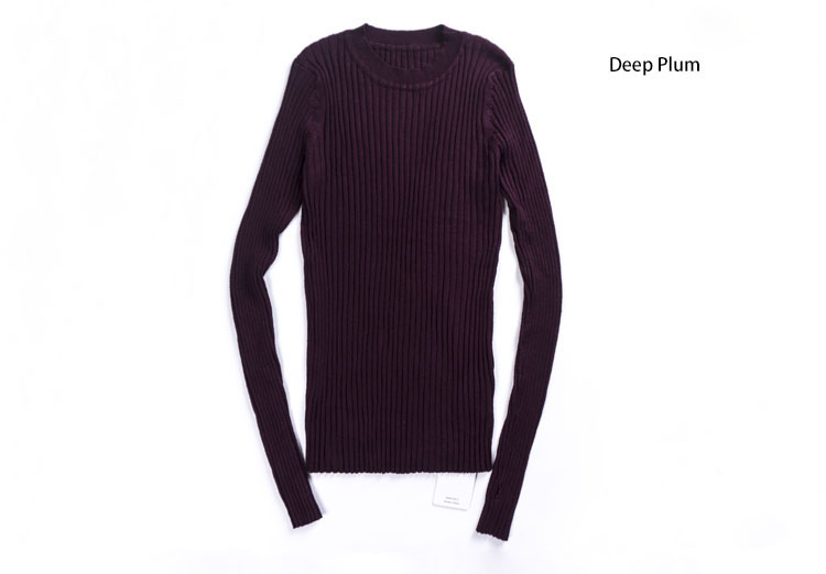 Women Sweater Pullover Basic Rib Knitted Cotton Tops Solid Crew Neck Essential Jumper Long Sleeve Sweaters Autumn Winter 17 12