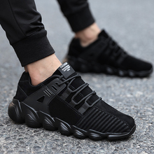 New running shoes men's sports shoes senior suede Comfortable non-slip outdoor male sneaker trainer shoes black gray yellow(China)