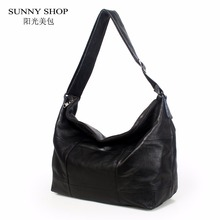 SUNNY SHOP Brand Luxury 100% Genuine Leather Handbags For Women Large Capacity Plaid Shoulder Bags Office Business Tote Hobos A4(China)