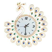 2017 Hot New Vintage Style Peacock Antique Wall Clock for Home Kitchen Office  Wholesale