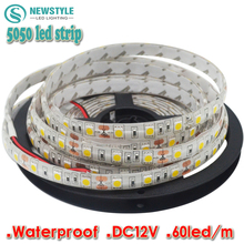 LED Strip 5050 Waterproof/Non-waterproof DC12V Flexible LED Light 60 leds/m 5m/lot 5050 RGB White ,Warm white,LED Strip