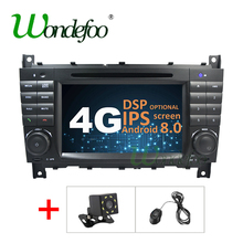 4G DSP ips Android 8,0 2 дин gps для Mercedes/Benz W203 W209 W219-класс A160 C-Class C180 C200 CLK200 dvd плеер/Andr 8,1(China)