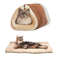 Sweet Style Winter Warm Pet Cat Bed Small Dog Kennel Pet House Cat Home Puppy Cushion Mats Sofa Cat Living Pet Place to Sleep(China)