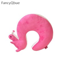1Pcs Novelty Squirrel Animal Cotton Plush U Shape Neck Pillow Travel Car Home Pillow Nap Pillow Health Care(China)