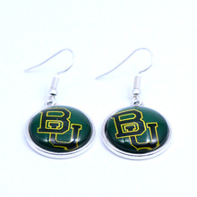 Earrings NCAA Baylor Bears Charms Dangle Earrings Sport Earrings Jewelry for Women Birthday Party Gift 5 pairs(China)