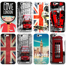 H549 Telephone Box Flag Transparent Hard Thin Skin Case Cover For Huawei P 6 7 8 9 10 Lite Plus Honor 6 7 8 4C 4X G7