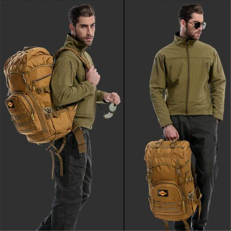 Male bag that mens 50 l military high quality Waterproof nylon mountaineering bag 2016 fashion leisure tourism Backpack<br>