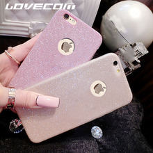 LOVECOM For Samsung S8 Plus A3 A5 A7 J3 J5 J7 (2015)(2016)(2017)For Iphone 7 Plus Bling Glitter Powder Soft TPU Phone Case Cover