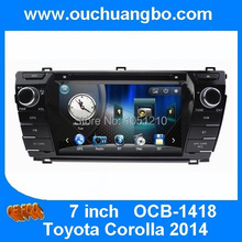 Ouchuangbo 7 inch autoradio dvd gps navigation fit for Corolla 2014 support French menu USB made in China OCB-1418