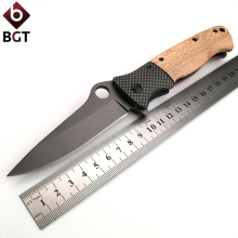 BGT DA45 440C Tactical Folding Pocket Knife For Survival Utility Combat Camping Titanium Knives Outdoor Hunting EDC Rescue Tools