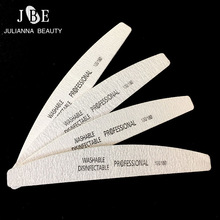 4Pcs/Lot Professional Nail File 100/180 Buffer Block Curve Banana For Manicure UV Gel Varnish File Sandpaper Tool Necok