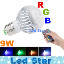 RGB Multiple Colour Led Bulbs Light Memory Function E27 E14 B22 GU10 9W Led Spot Globe Lamp AC 85-265V With Remote Control