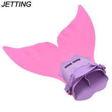JETTING Diving Scuba Feet Tail Kid Girls Mermaid Monofin Flipper Wave Fins Adjustable Swimming Fins Training Shoes Tail