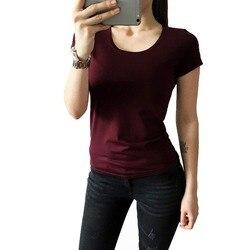 Женская футболка с круглым вырезом, с коротким рукавом