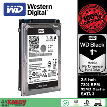 Western Digital WD Black 1TB hdd 2.5 WD10JPLX SATA 3 laptop internal sabit hard disk drive interno hd notebook harddisk disque