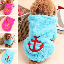 Idepet Fleece Puppy Dog Clothes Cute Vanchor Hoodie Coat Winter Sweater Pet Costumes Clothing For Dogs Pets Chihuahua XS-XL 19