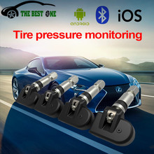 Best Quality Wireless TPMS Car Tire Pressure Monitoring System Bluetooth 4.0 With 4 Sensors Alarm Warning Tyre Pressure Tester(China)