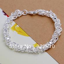 2015 new arrive!!!Free Shipping 925 Sterling Silver Bracelet Can Custom Hand Made Bracelet Wholesale Fashion Jewelry H073(China)
