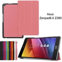 For ASUS Zenpad 8.0 Z380 Z380KL Z380C Tablet PC Business Simple Design Smart Custer PU Leather Case Cover With Stand Holder