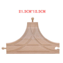 2styles Retail T Track Tracks Wooden Train Track Toys Educational Blocks Doll Railway Accessories bloques de construccion