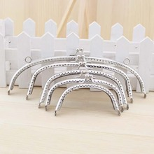 Free shipping! Silver arc-Shaped Purse Frame Metal DIY Coin Bag Accessories 5PCS SET OF 8.5/ 10/ 12/ 15/ 20CM(China)