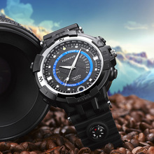FOXWEAR Outdoor Sports Smart Watch Support 8G 16G 32G WIFI Remote P2P IP HD Camera LED Floodlight Compass for DVR CAR Bicycle(China)