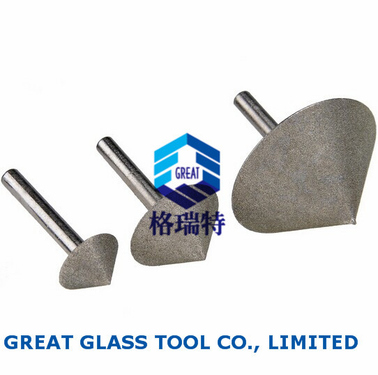 High Quality Diamond palting glass countersink bit, straight shank, 20mm<br><br>Aliexpress