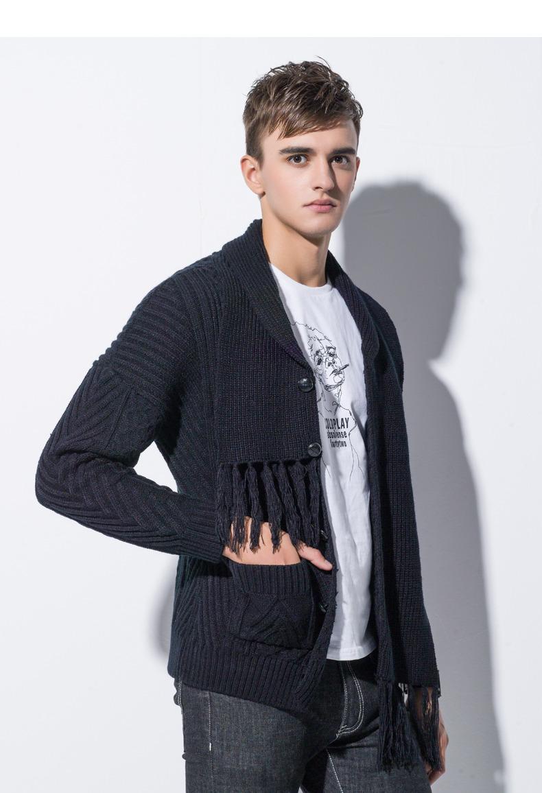 Winter Men Cardigan Coat Thicken Loose Fit Warm Turtleneck Sweater Men Autumn Knited Male Sweatercoat Black Brand Muls M-4XL-02