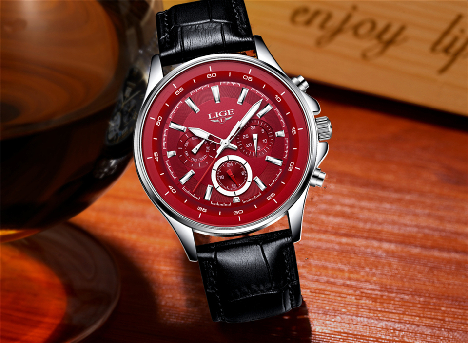 LIGE Mens Watches Waterproof Top Brand Luxury Quartz Watch Men Sport Watch Fashion Casual Military Clock Male Relogio Masculino 24