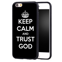 Christian God Keep Calm and trust GOD Jesus Christ Quote case cover For Samsung s6 S7 S6edge S8 S8plus s4 s5 note 2 3 4 5