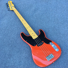 2017 New Arrival High Quality,4 strings Tele bass guitar,Red body,Tele telecaster Bass,Wholesale,Real photos,free shipping!(China)