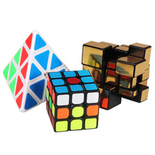 meibeile Kids Educational Game Plastic Toys 3x3x3 Mirror Pyraminx Professional Magic Puzzle Cubes for Children Adult(China)
