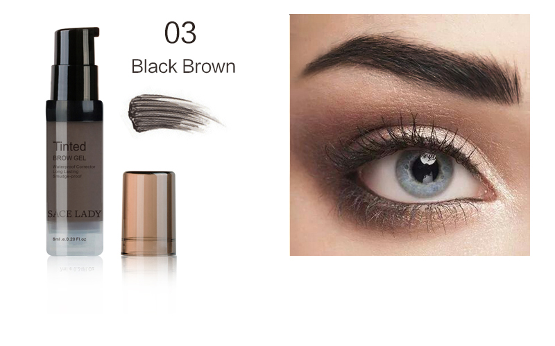 SACE LADY Henna Shade For Eyebrow Gel 6ml Make Up Paint Waterproof Tint Natural Eye Brow Enhancer Pomade Makeup Cream Cosmetic 9