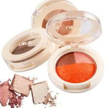 1Pc UBUB 3 Colors Baked Eyeshadow Smoky Nude Orange Coffee Color Cosmetic Roast Eye Shadow Palette Y2