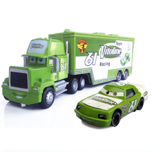 100% Standard Metal Green color No.61 Uncle Jimmy Race Car Driver Container Truck and His Car Model Vehicle Toy for kids